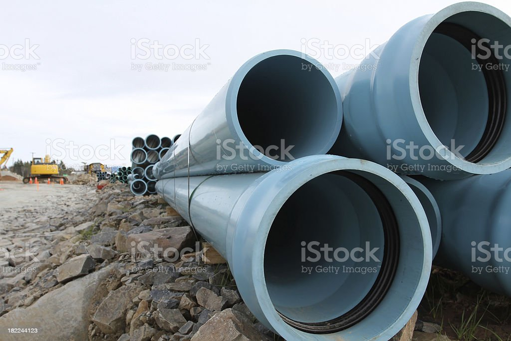 PVC Pipe stock photo