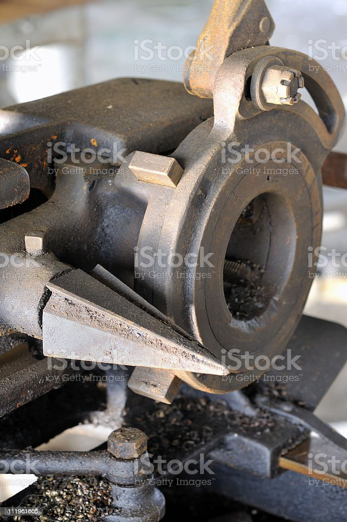 Pipe Reamer and Threader stock photo