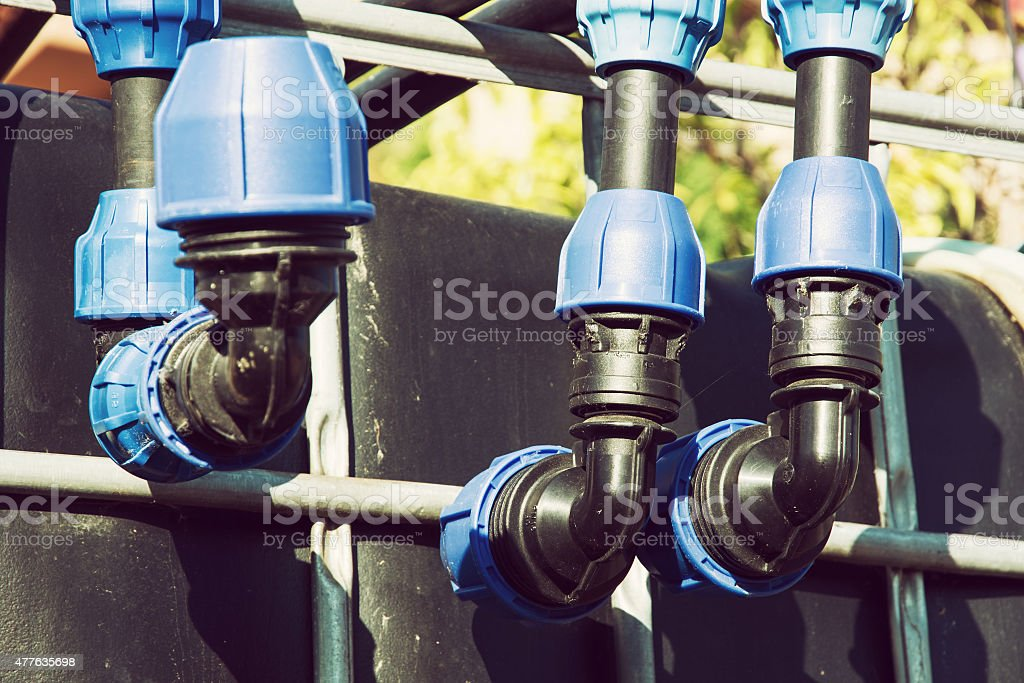 Pipe system stock photo