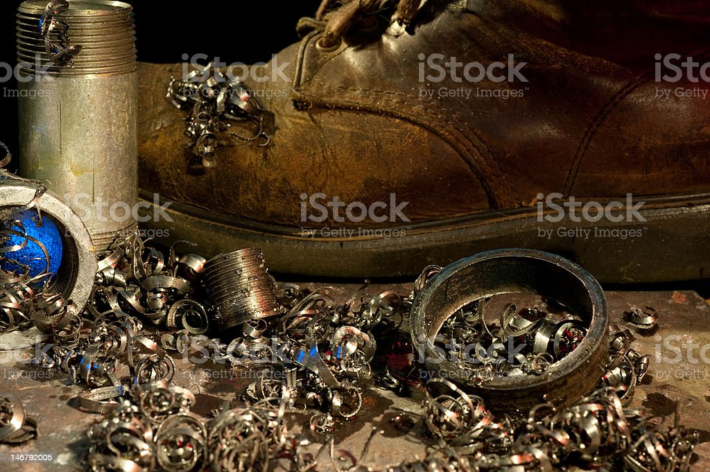 pipe threading royalty-free stock photo
