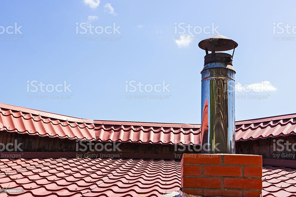 pipe to ventilations stock photo