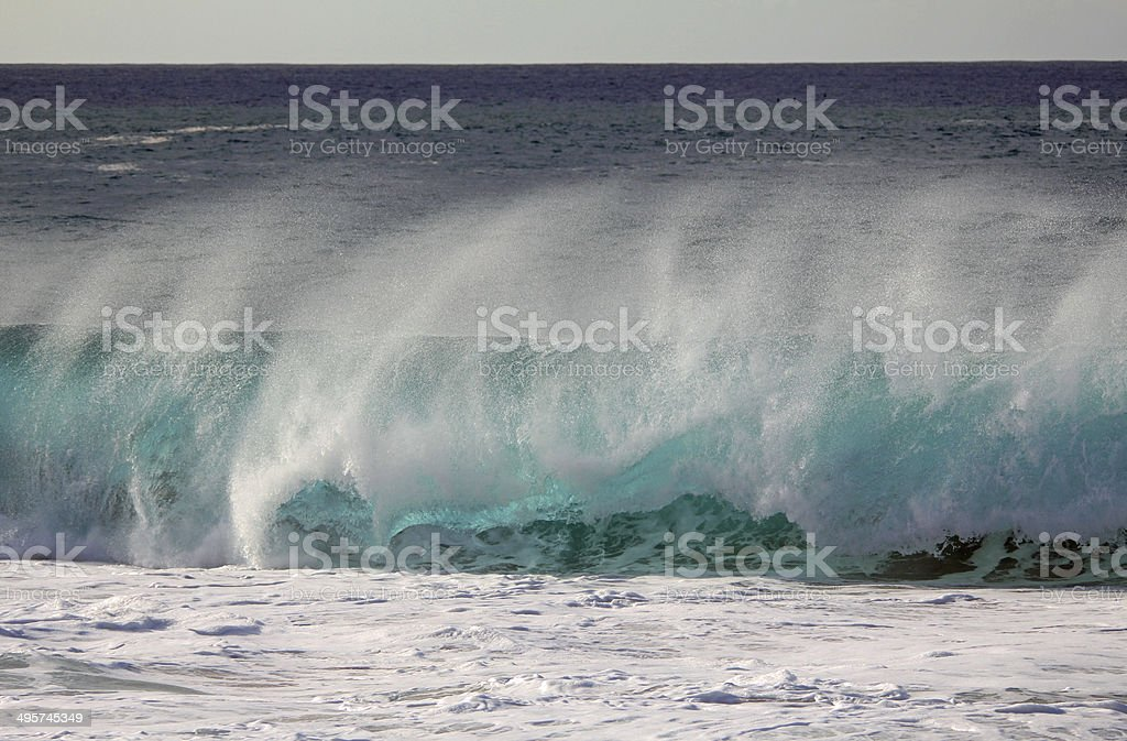 Pipe wave in North Shore royalty-free stock photo