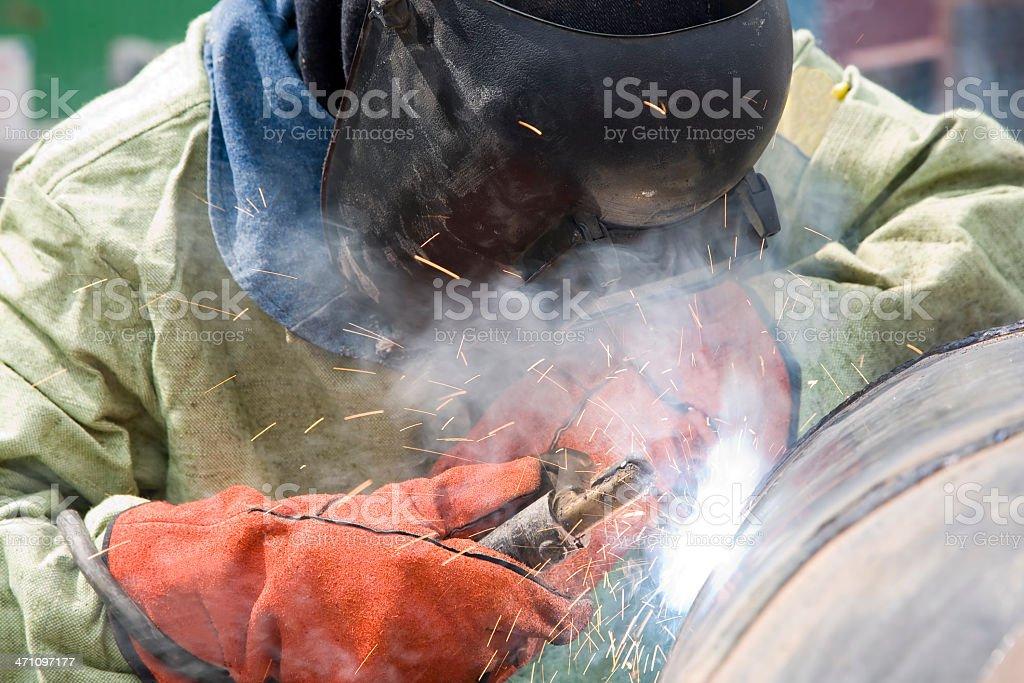 Pipe Welder: Light stock photo
