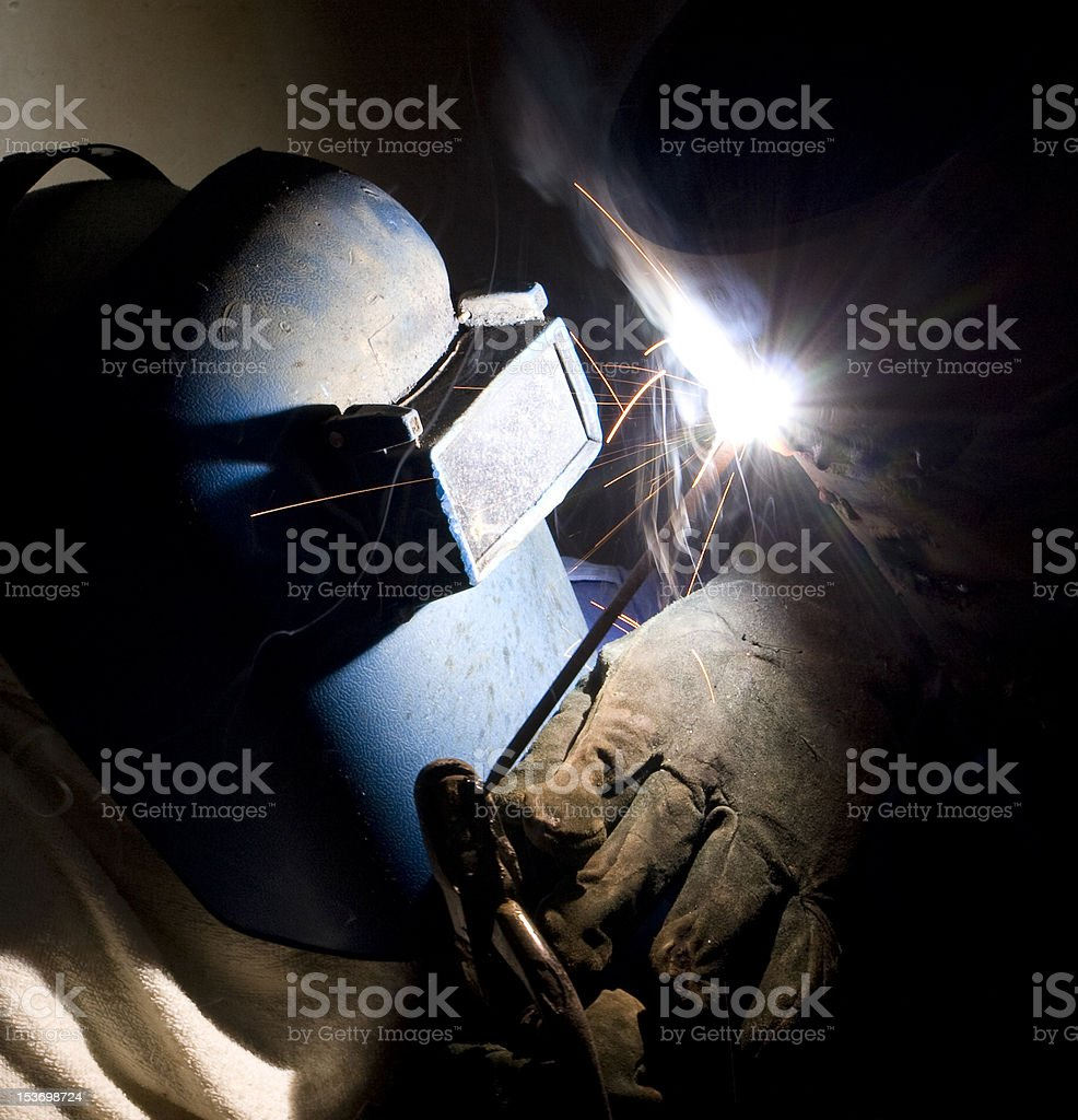 Pipe welder royalty-free stock photo