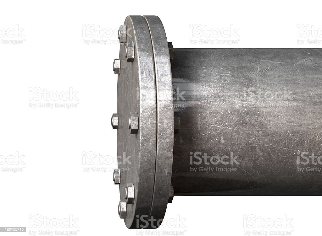 Pipe With Sealed Off End royalty-free stock photo