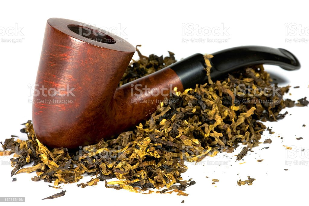 Pipe with tobacco royalty-free stock photo