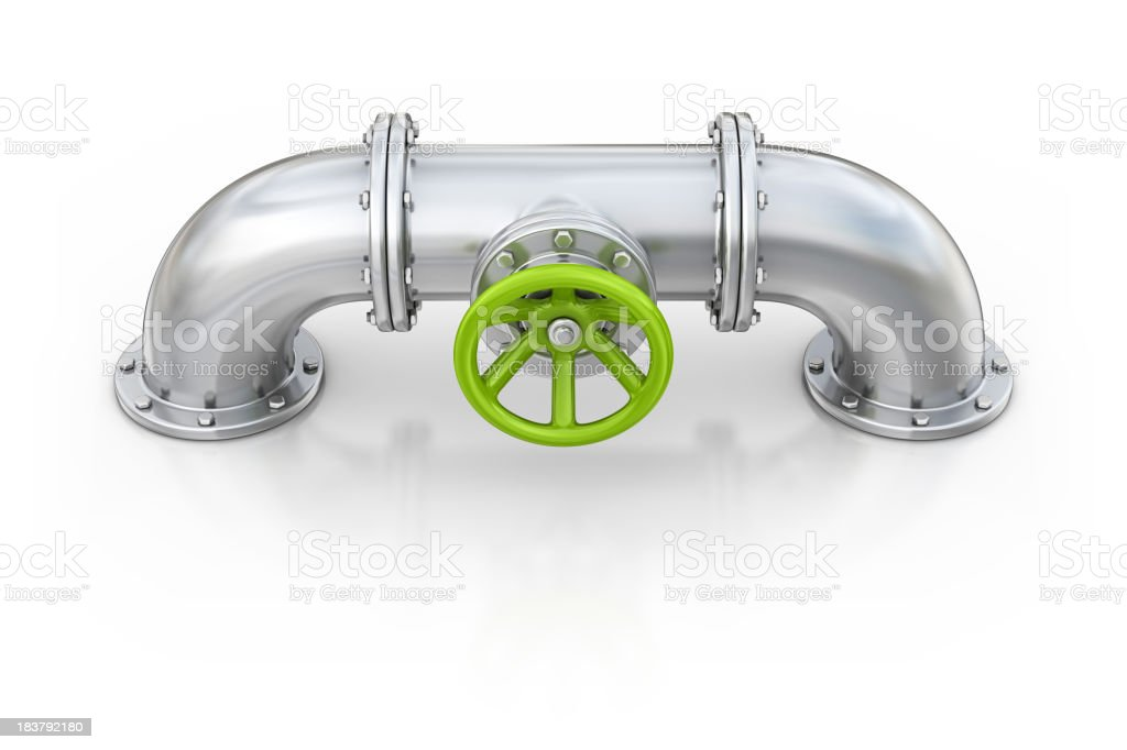 pipe with valve royalty-free stock photo