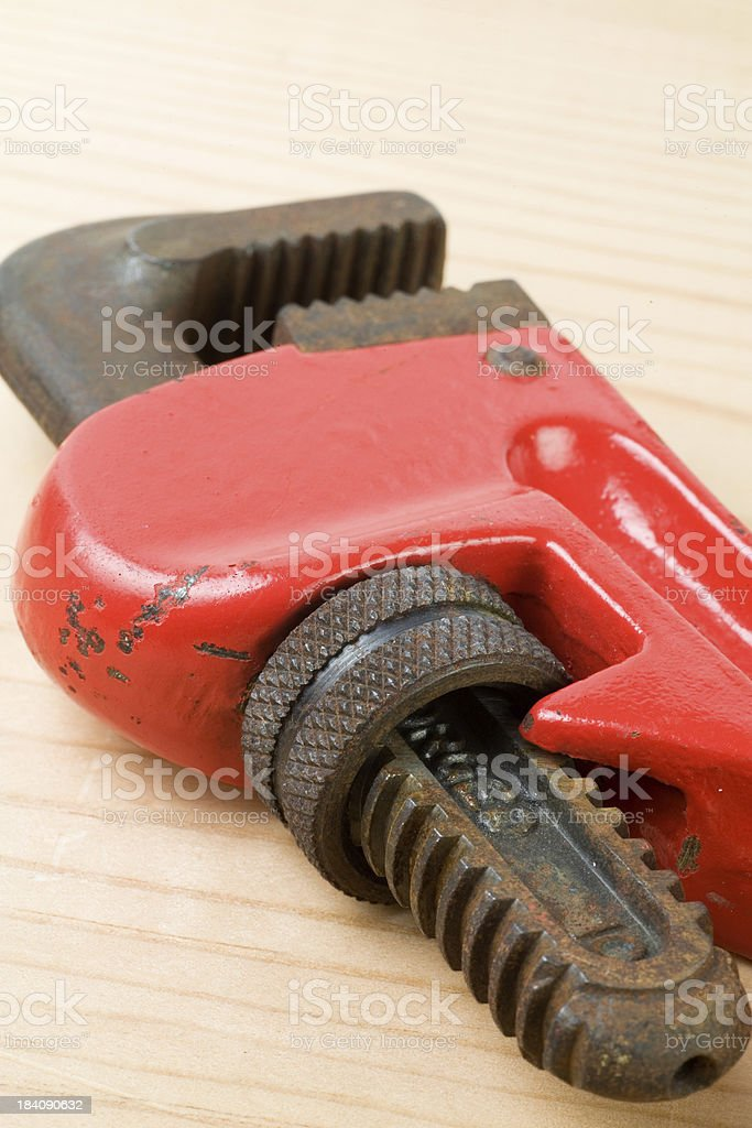 Pipe Wrench Closeup royalty-free stock photo