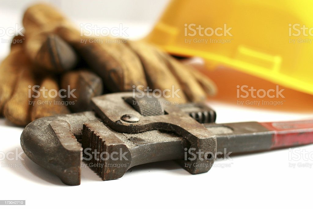 pipe wrench jaw royalty-free stock photo