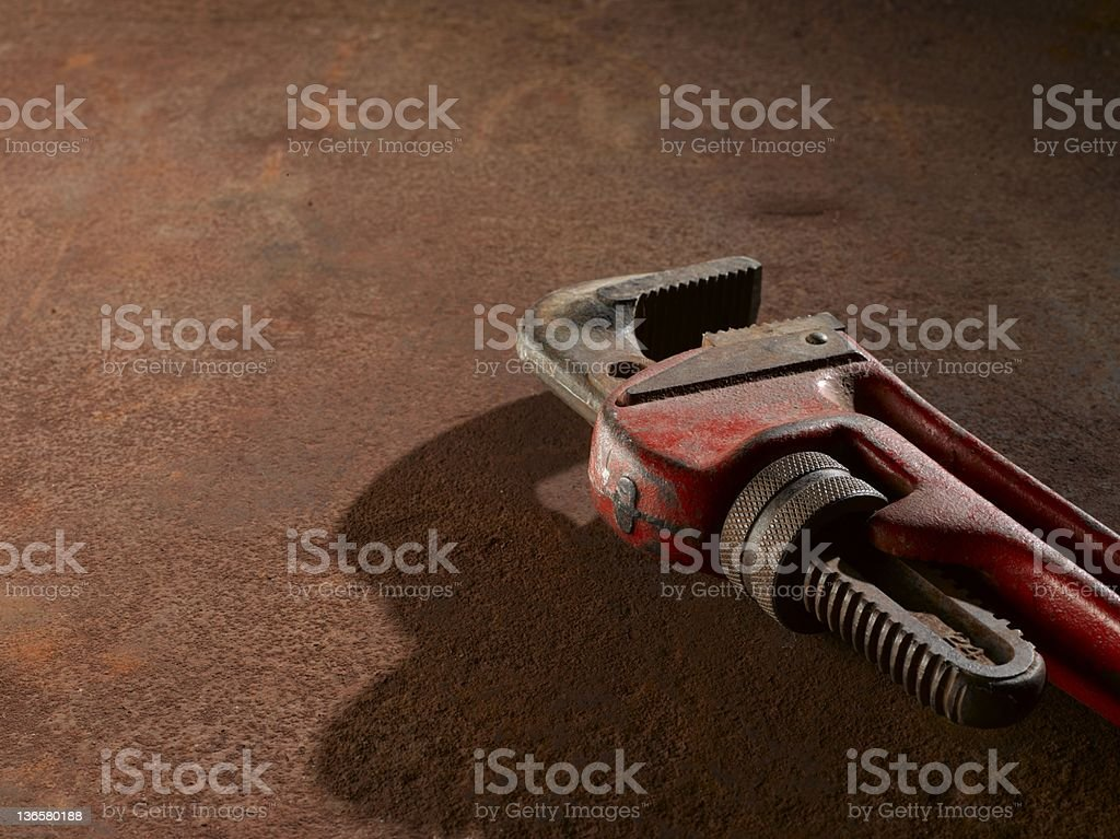 Pipe Wrench royalty-free stock photo