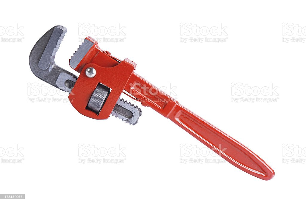pipe wrench stock photo