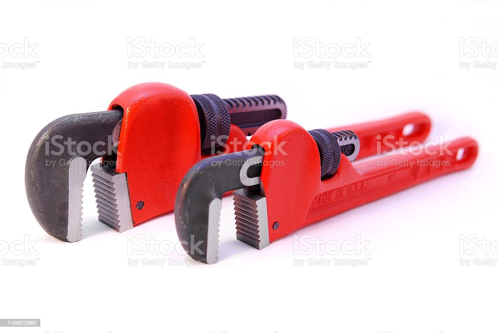 Pipe Wrenches royalty-free stock photo