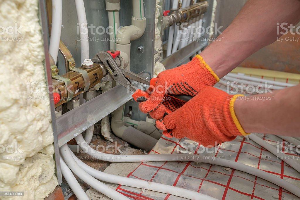 pipefitter stock photo