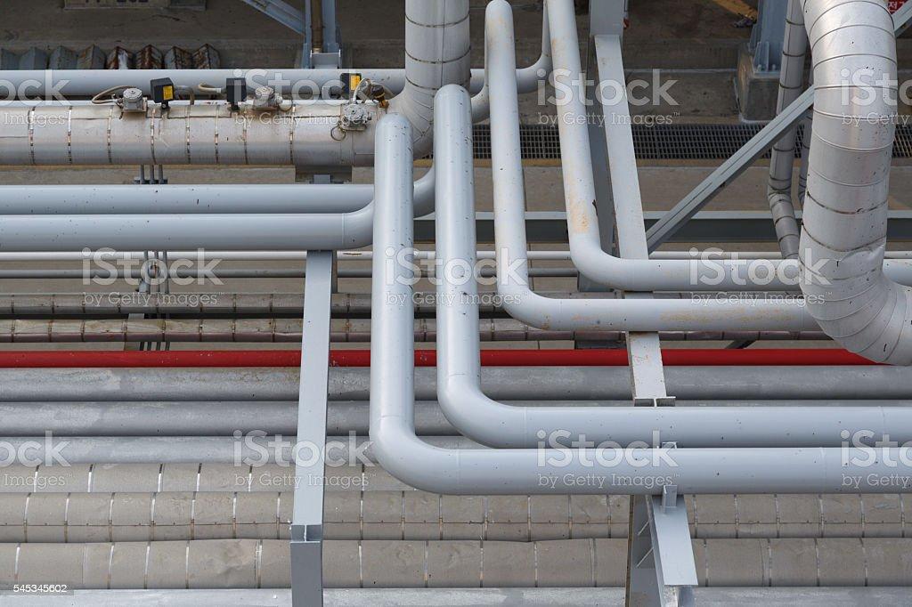 Pipeline bends on a petroline stock photo