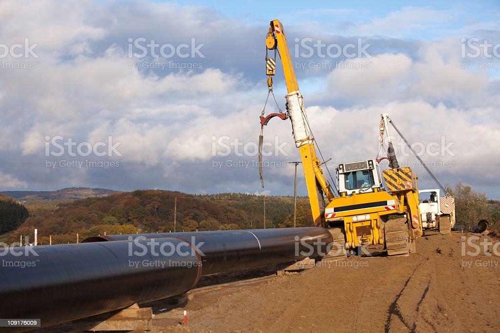 Pipeline construction royalty-free stock photo