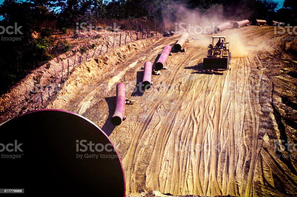 Pipeline construction stock photo