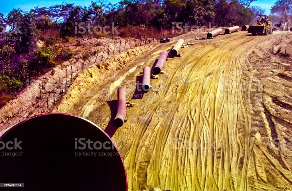 Pipeline construction stock photo