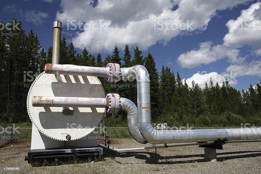 Pipeline Heater (series # 2) stock photo