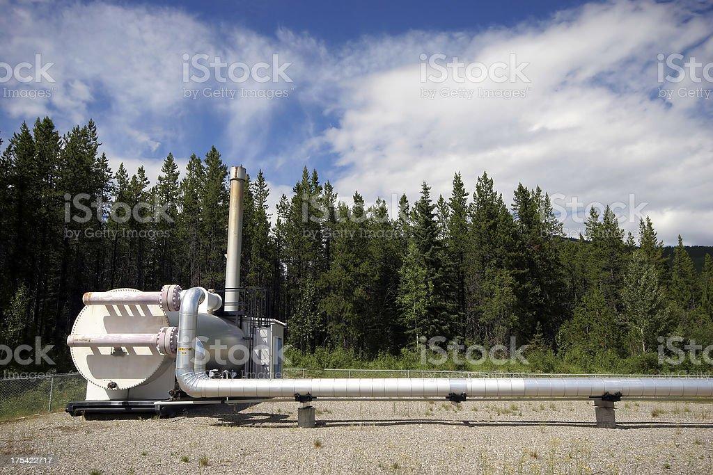 Pipeline Heater stock photo