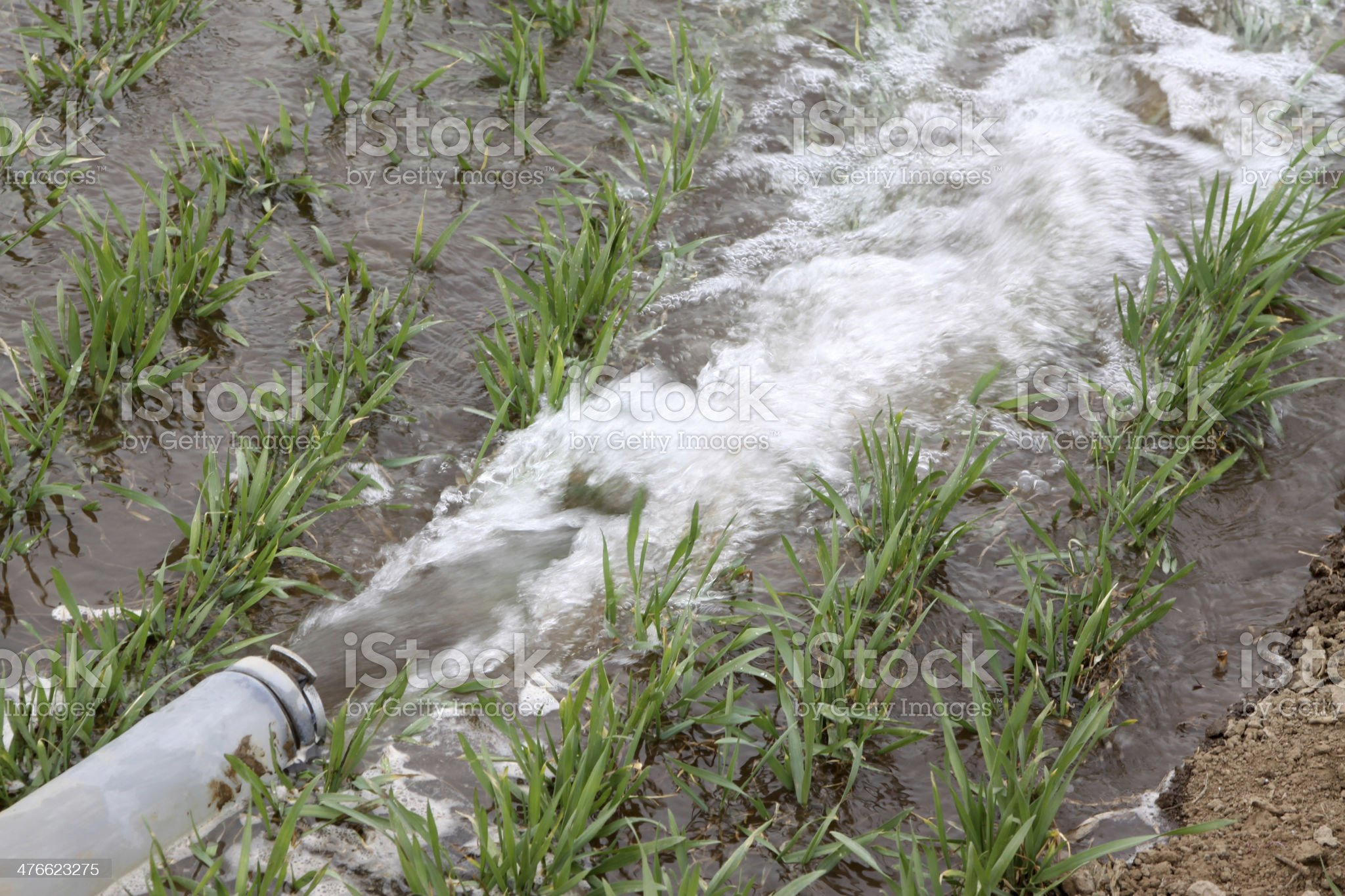 pipeline in rural areas royalty-free stock photo