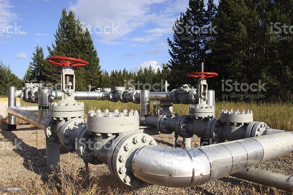 Pipeline Junction (Series-two) stock photo