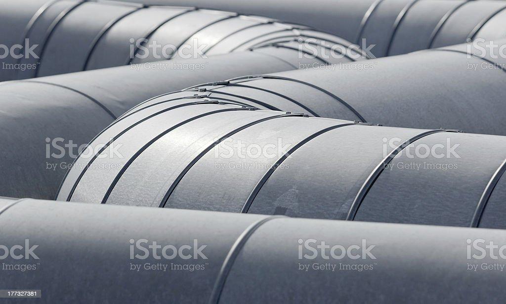 pipeline tubes stock photo