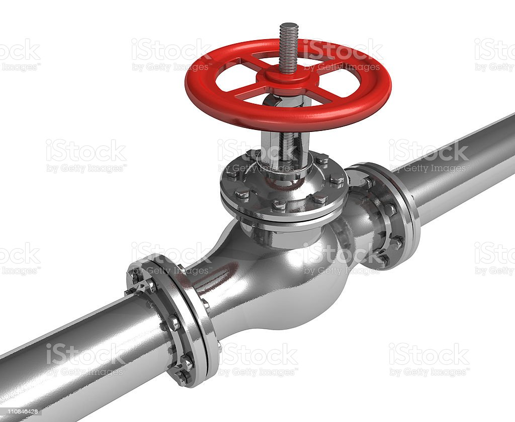 Pipeline with valve royalty-free stock photo
