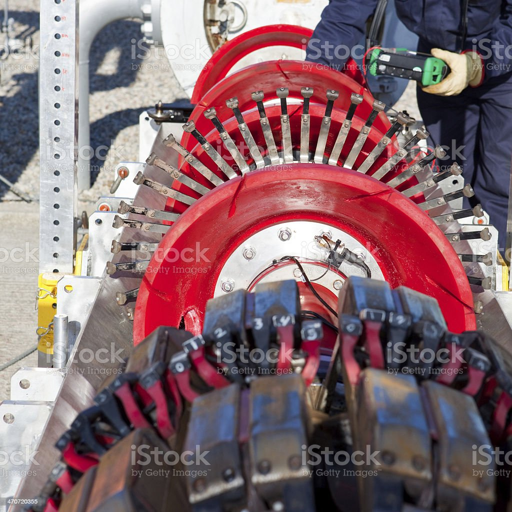 Pipeline-intelligent PIG stock photo