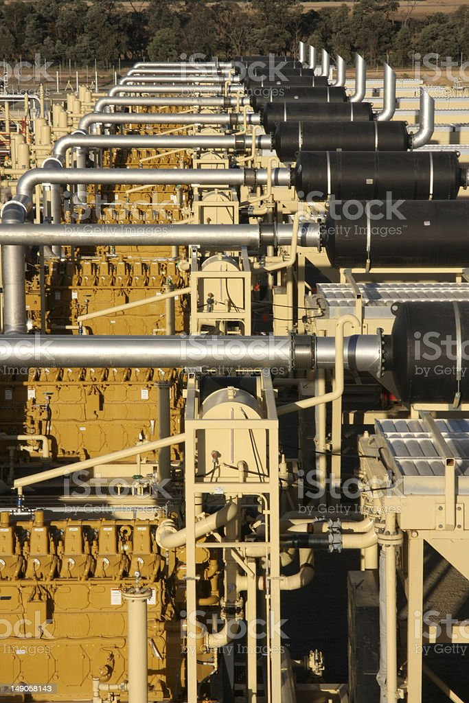 Pipelines and compressors stock photo