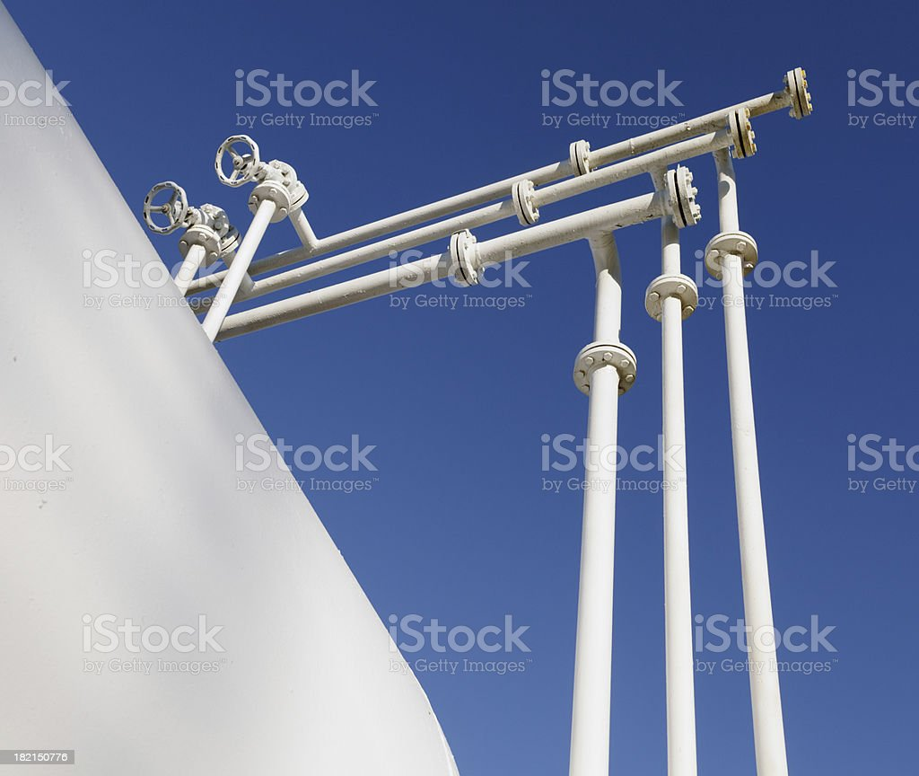 Pipelines and storage Tank royalty-free stock photo