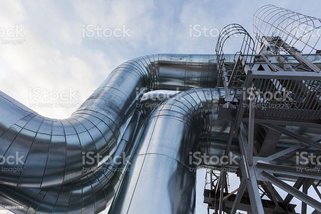 pipelines stock photo