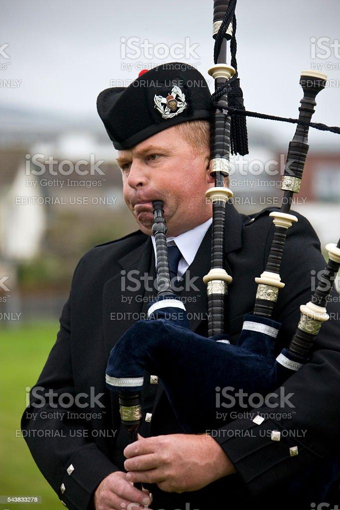 Piper at the Cowal Gathering - Scotland stock photo