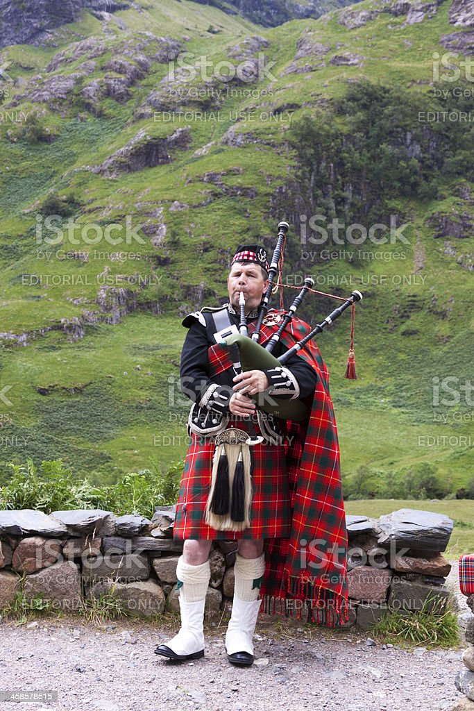 Piper in Glencoe. stock photo