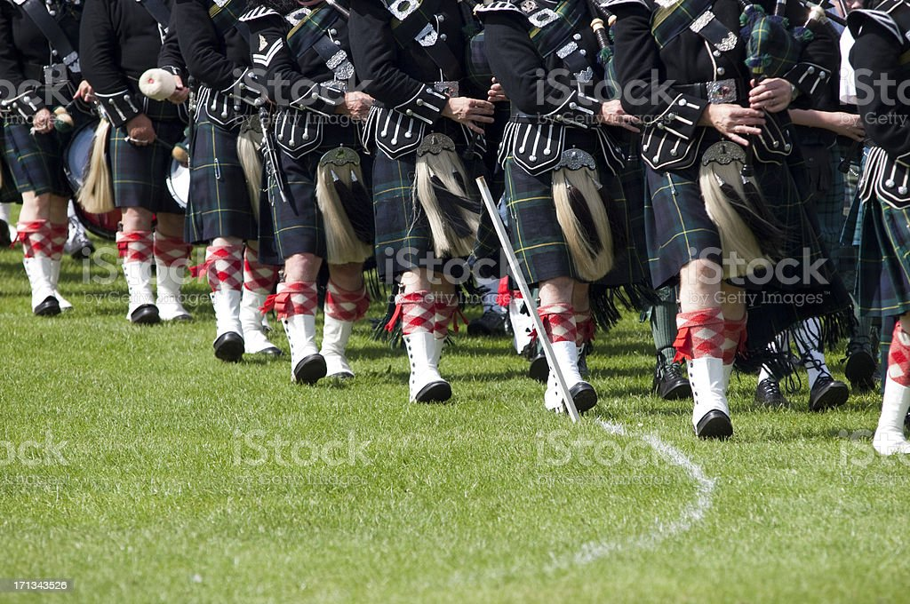 'Pipers in a Marching Band, Scotland' stock photo