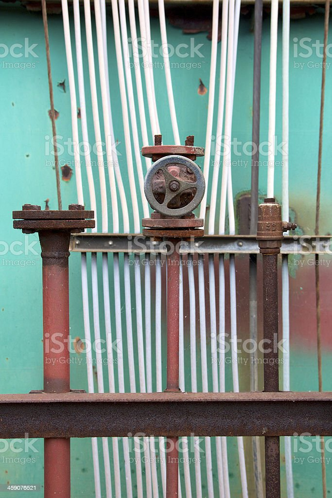 Pipes and Cables at Shipyard royalty-free stock photo