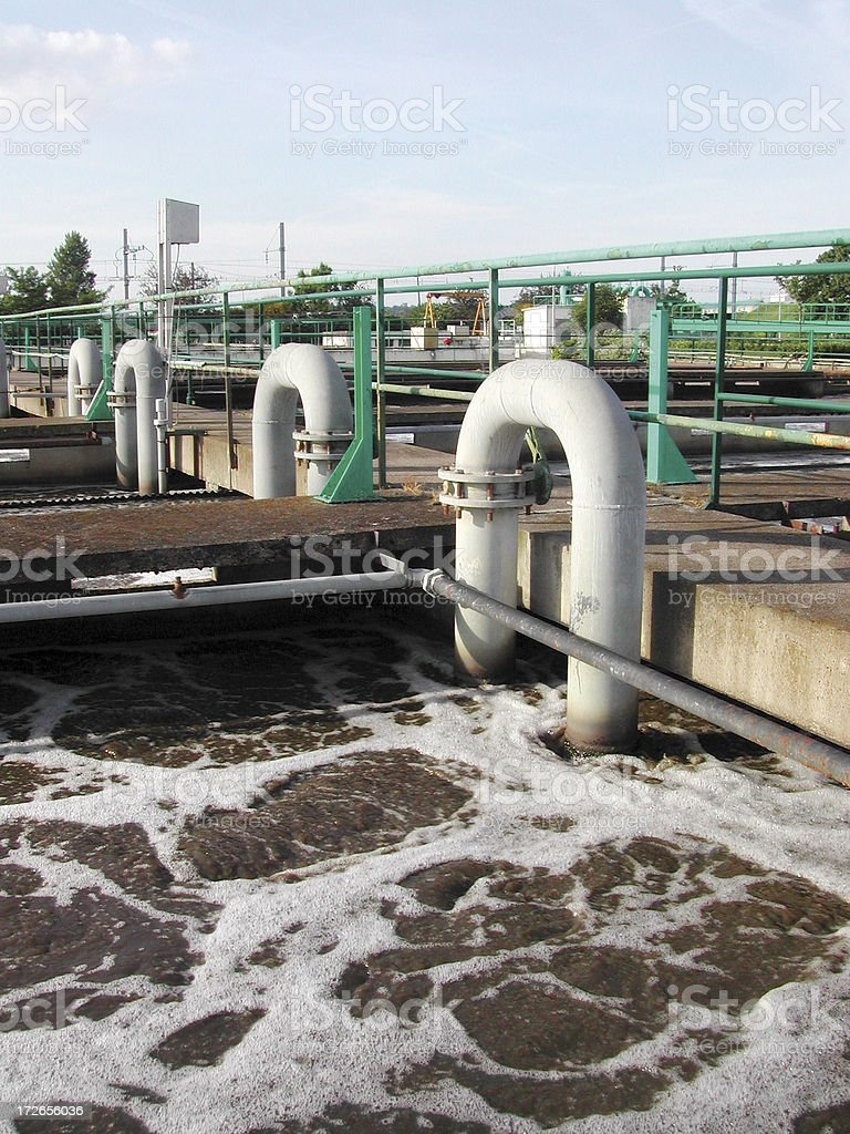pipes and dirty water royalty-free stock photo