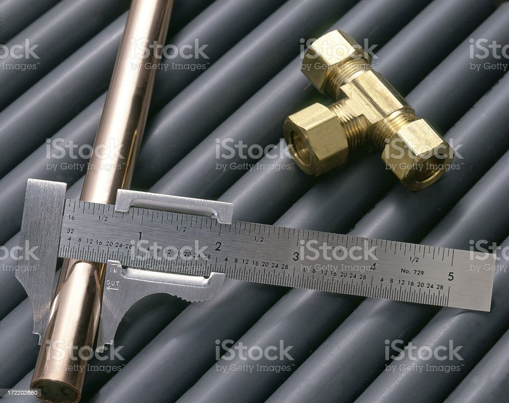 Pipes and Fittings royalty-free stock photo