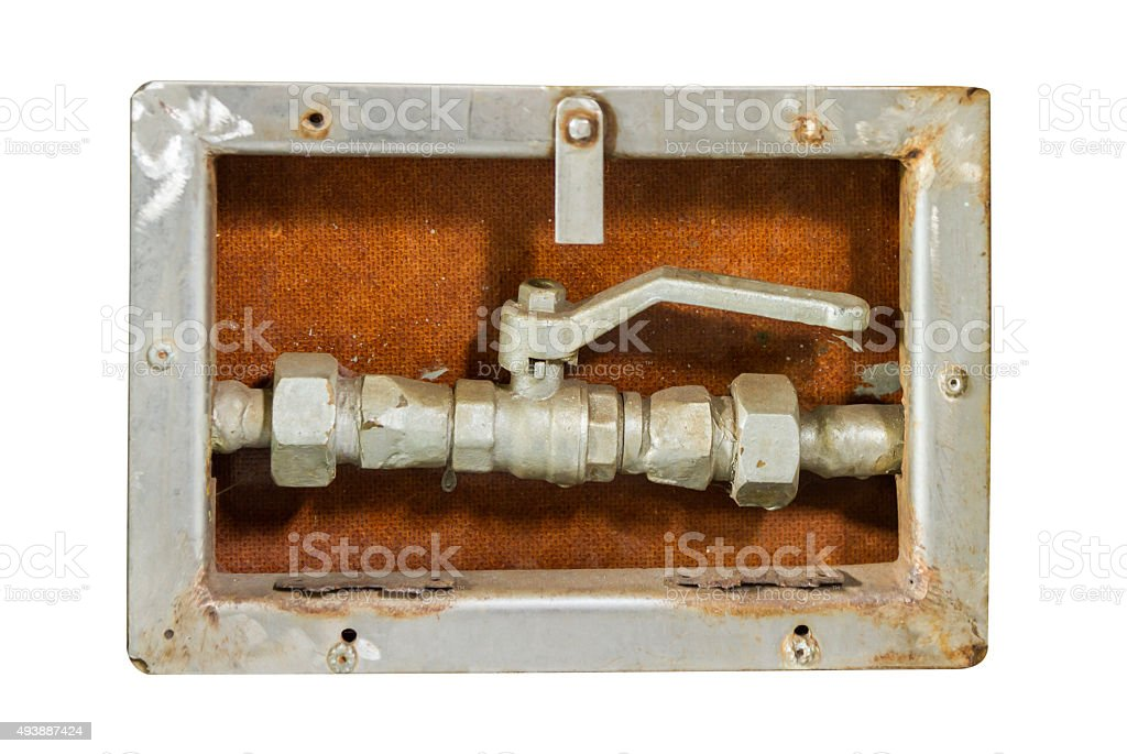 Pipes and heating system. stock photo