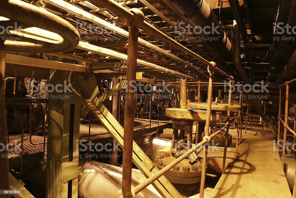 Pipes and tubes at a power plant royalty-free stock photo