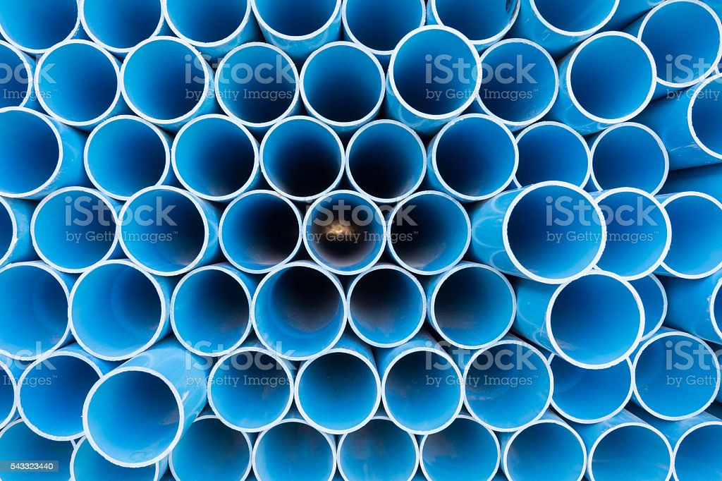 PVC pipes for drinking water. stock photo