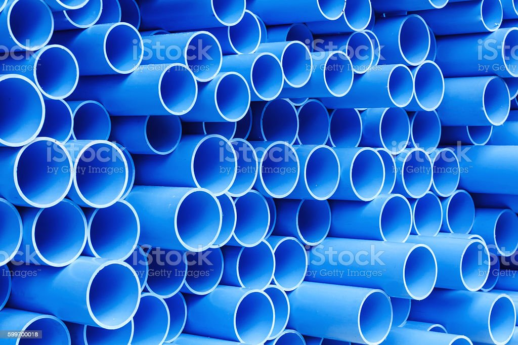PVC pipes for drinking water stock photo