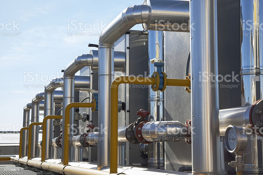 Pipes from the air conditioning system royalty-free stock photo