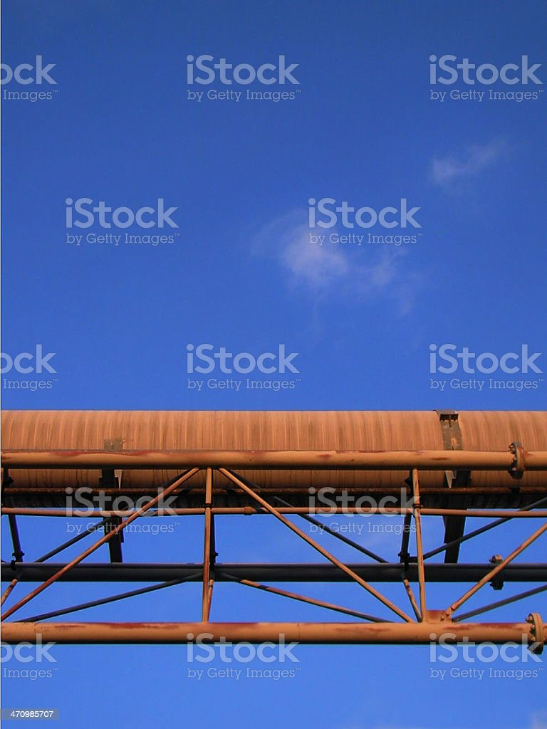 Pipes In The Evening Sun royalty-free stock photo