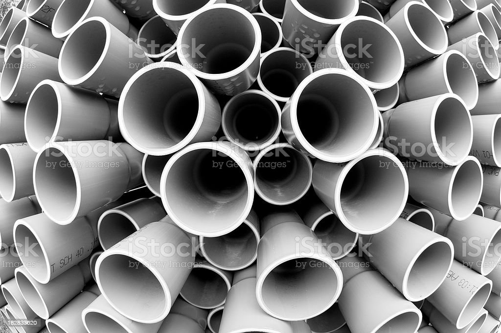 PVC Pipes royalty-free stock photo