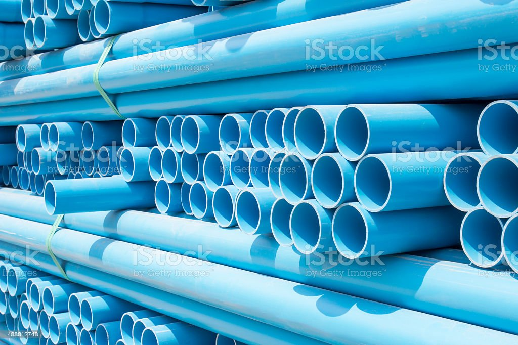 PVC pipes stock photo