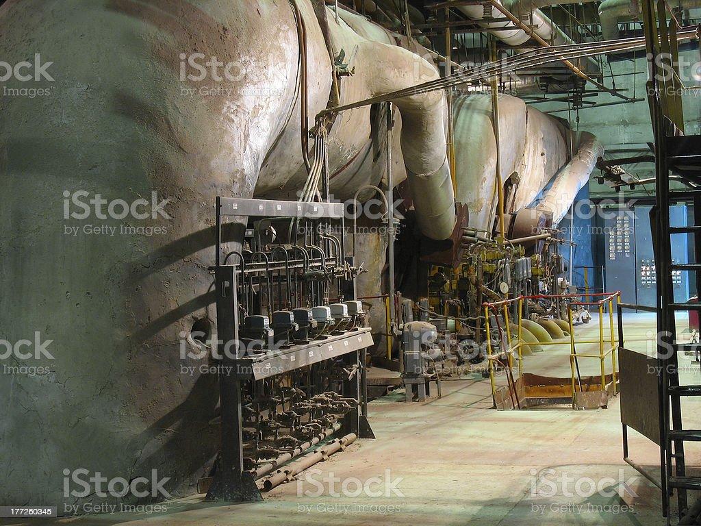 Canos, tubos, máquinas e Turbina a Vapor foto de stock royalty-free
