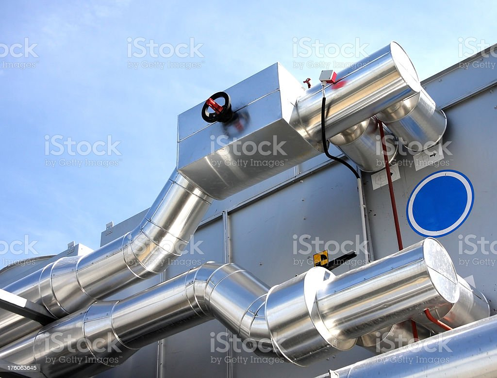 pipes with valve royalty-free stock photo