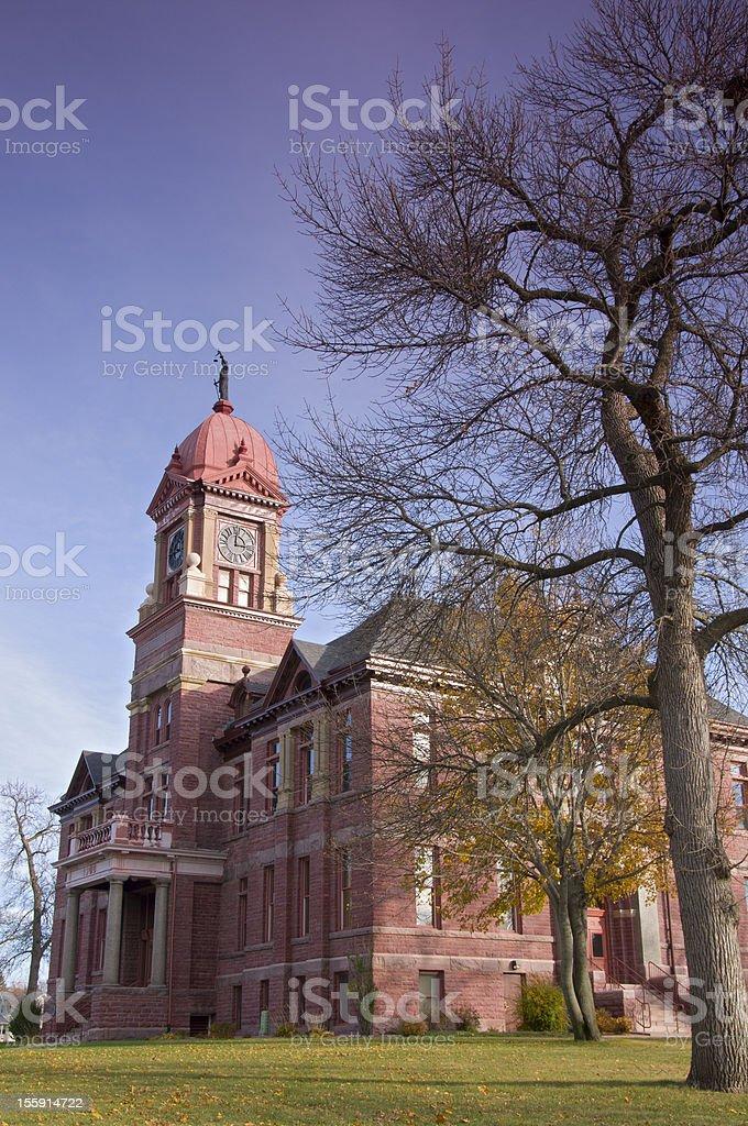 Pipestone Courthouse Corner stock photo