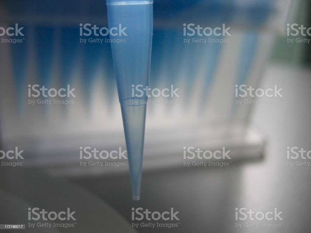 Pipette tip macro stock photo