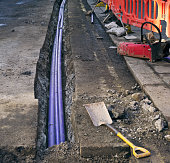 Pipework installation under the road surface